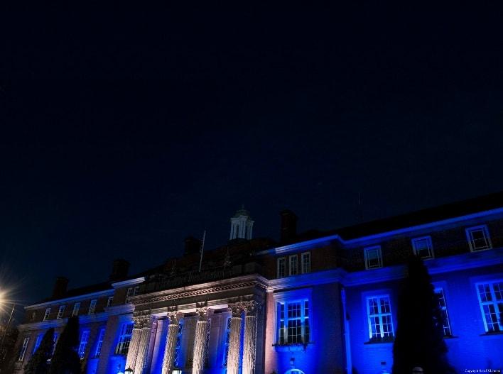 nuneaton town hall christmas lights turn on event outset